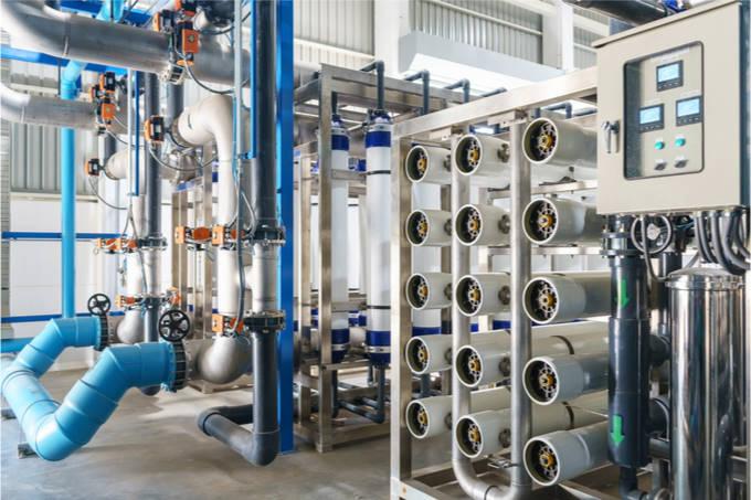 Umkehr-Osmose-Anlage: Herstellung von entmineralisiertem Wasser