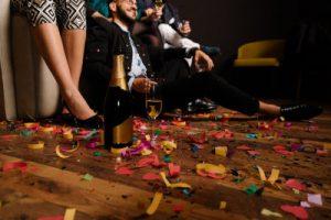 Grundreinigung nach einer Feier