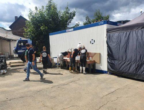 Hochwasser: Hilfsaktion in Dernau / Ahrweiler | Duschcontainer & Unterstützung