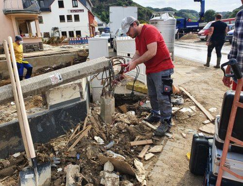 Hochwasser im Ahrtal: Dritter Helfereinsatz in Dernau